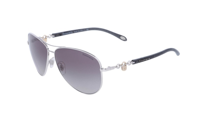 67f9fc68460 Tiffany TF3034 Aviator Arc Lock Silver 2015 Collection Lux Sunglasses