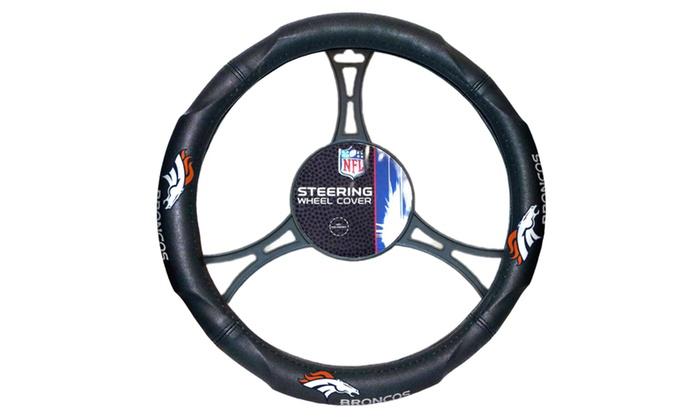 NFL 605 Broncos Car Steering Wheel Cover