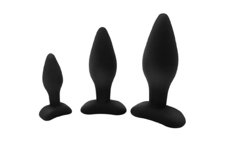 Letsgasm Anal Commander Collection: 3 Sizes Of Silicone Anal Plug 44767c2d-de55-41ab-837b-bc2acee8834d