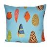 """Loom and Mill Home Decor 21""""X21"""" Aqua Shells Decorative Pillow"""