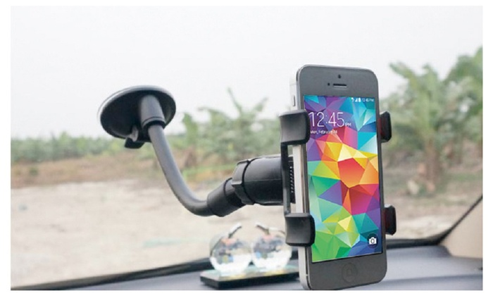 universal flexible soft tube mobile phone car lazy stand clip holder groupon. Black Bedroom Furniture Sets. Home Design Ideas