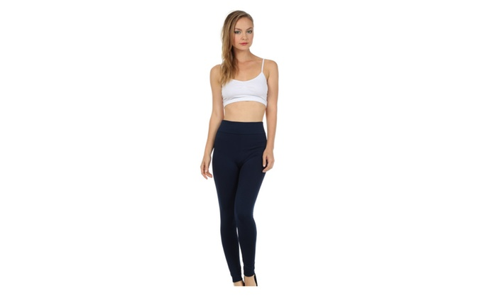 Sakkas Warm Soft Fleece Lined High Waist Leggings