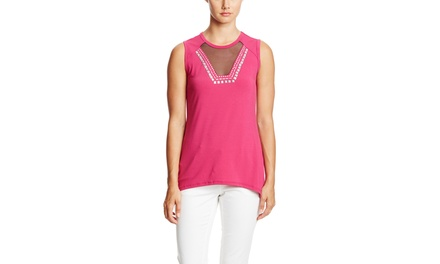 SIONI Sleeveless Embellished Top