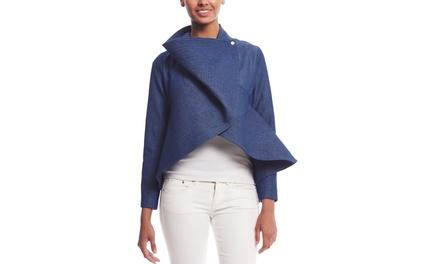 GRACIA Long Sleeve Peplum Jacket