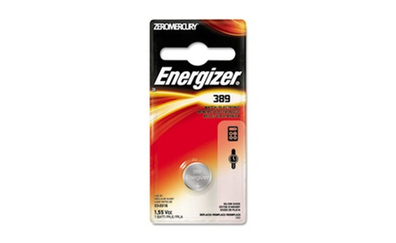 Energizer Watch/Electronic Battery, SilvOx, 389, 1.5V, Mercury Free (EVE389BPZ)