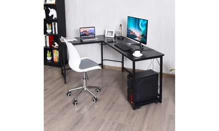 L Shaped Desk Corner Computer Desk PC Laptop Gaming Table Workstation 2 colors