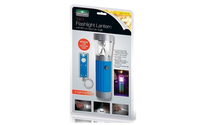 2 In 1 Flashlight Lantern With Bonus LED Keychain Light