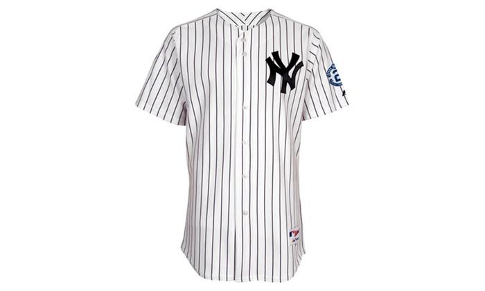 free shipping 70792 74700 Mens New York Yankees Derek Jeter Patch Jeter Jersey | Groupon