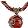 Bohemian Long Big Stone Necklace for Women
