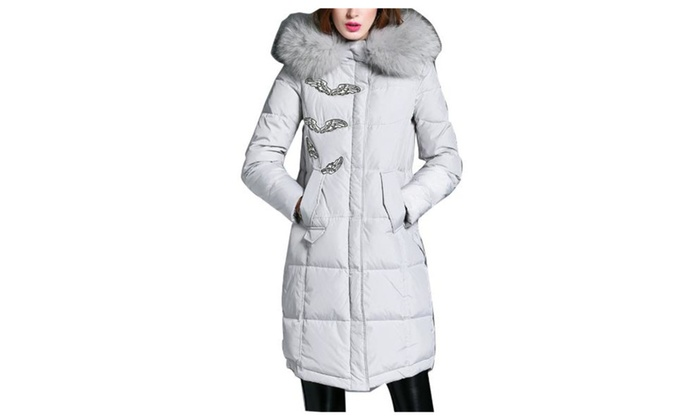 Women's Long Sleeve Zip Closure Casual Down Coat