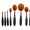 10 Pcs Professional Oval Toothbrush Makeup Brush Set