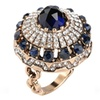 Luxury Blue Sapphire 18K Gold Plated Turkish Ring