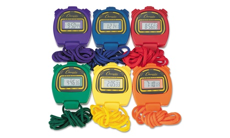 Champion Sports Water-Resistant Stopwatches, 6Set 2b06582c-cc0c-4175-ad3f-55ab11b8946b
