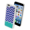 Insten ZiggyZag Teal Green/White Rubber Cover TPU Case iPhone 6S 6