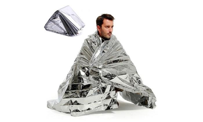 Waterproof Emergency Rescue Space Foil Thermal Blanket Body Heat 2pack