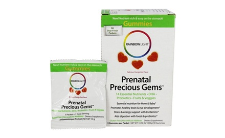 Rainbow Light Prenatal Vitamins, Precious Gems, 30 packets with 3 Gummies in each (90 Total)