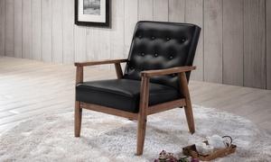 Baxton Studio Sorrento Mid-Century Modern Lounge Chair