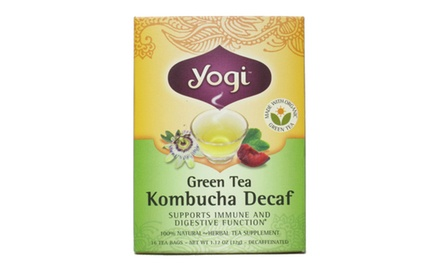 Yogi Kombucha Decaf Green Tea, (Pack of 96 tea bags)