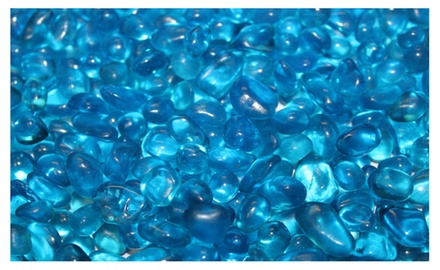 Tahitian Blue Eco Fire Glass Dots Firepit Glass 10 Pounds Great for Fire Pit Fireglass or Fireplace Glass