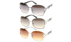 MLC Eyewear Urban Fashion Rectangular Aviator Wired Sunglasses S61NG9434