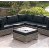 Burshtyn Patio Sectional Sofa in Tan & Grey