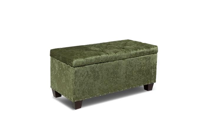 24u0027u0027 Rectangular Storage Ottoman Bench Footrest Microfiber ...
