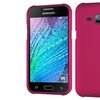 Insten Hard Rubber Case For Samsung Galaxy J1 Hot Pink