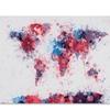Michael Tompsett Paint Splashes World Map Canvas Print