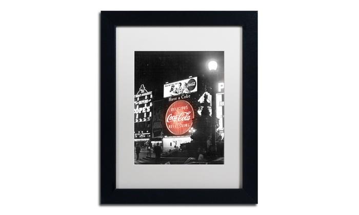Groupon Goods: Coca Cola 'Color Splash Vintage Photography 1' Matted Black Framed Art