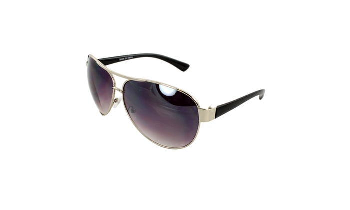 Pilot Fashion Aviator Sunglasses F762 Silver and Black, Silver