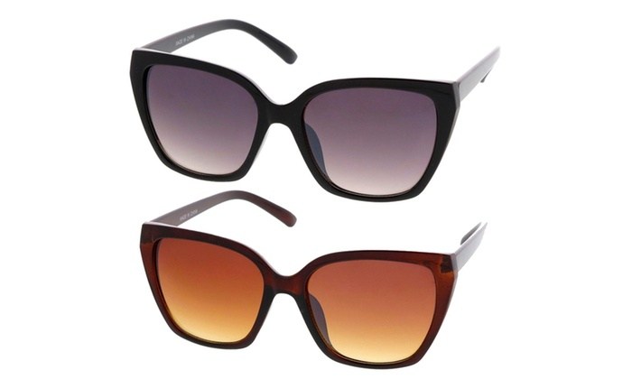 Simple Fashion Geometric Frame Cat Eye Women Sunglasses Model S60W3202
