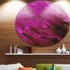 Abstract Magenta Pattern' Abstract Circle Metal Wall Art