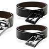 """Eurosport Men's Reversible Leather Belt with Full Grain Leather (1.5"""")"""
