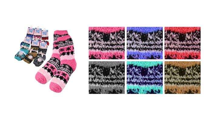 Fuzzy Crew Socks 6-PK