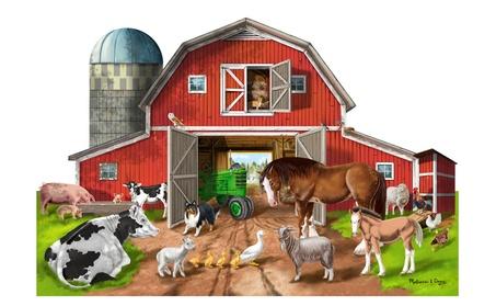 Melissa Doug Busy Barn Shaped Floor Puzzle (32 pieces) 2923 e1ffae12-eafe-45a5-9686-880d703bf05a