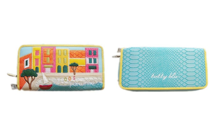 Tottyblu Braccialini Style Handicraft Art Design Wallet Portofino