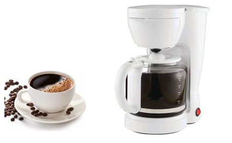 White Delicious Brew 12-Cup Coffee Maker With removable Filter Basket 16327555-da22-4a43-922a-fcd1a4f1456c