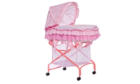 Dream On Me, Layla 2 in 1 Bassinet to Cradle in Pink 9d6cee02-fd5c-4157-94e7-10fae9b23517