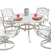 """Biscayne 5PC Dining Set 48"""" Table with Four Swivel Chairs"""