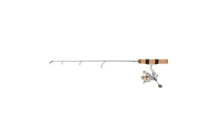 Frabill ice hunter 26 medium ice fishing rod groupon for Ice fishing deals