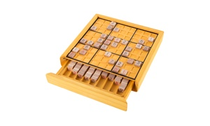 Hey! Play! Wood Sudoku Board Game Set for Adults and Kids
