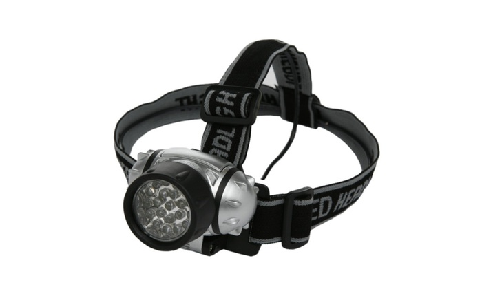 9 LED Water Resistant Bright Hands Free Headlamp - 2 Pack
