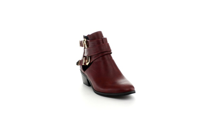 Reneeze BEAUTY-04 Womens Buckled Cut Out side design Booties