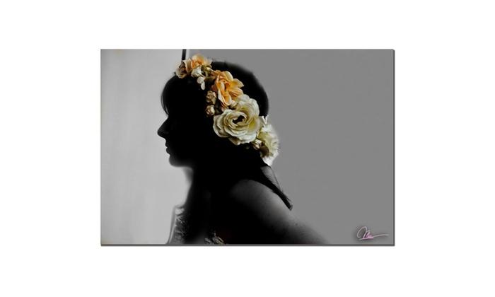 Groupon Goods: Martha Guerra 'Flora' Canvas Art