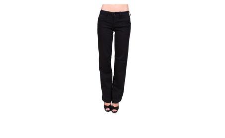 Celebrity Pink Black Trouser Boot Cut with Welt Back PocketCJ22074H20 c1ebea74-261e-4fe3-9922-fd08e815f1aa