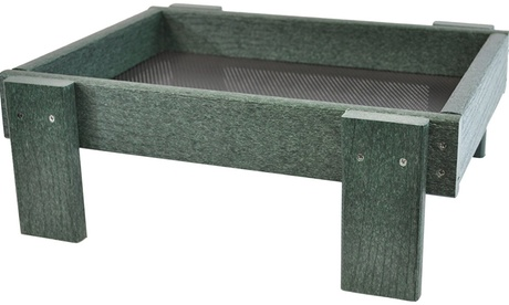 Songbird Essentials SERUBSPF100 Ground Platform Feeder - Green (Goods Outdoor Décor Bird Feeders & Baths) photo
