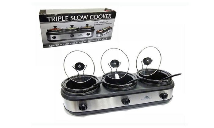 Buy It Now : Triple Slow Cooker - Ultimate In Slow Cooking Convenience