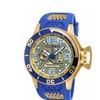 Invicta 18834 Blue, Gold Dial Corduba Quartz 3 Hand Men's Watch