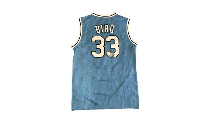 the latest db32a a26c4 Autographed Larry Bird Indiana State Jersey FHS38