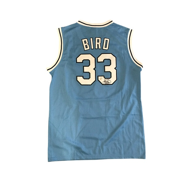 the latest 9e10c 5f2eb Autographed Larry Bird Indiana State Jersey FHS38